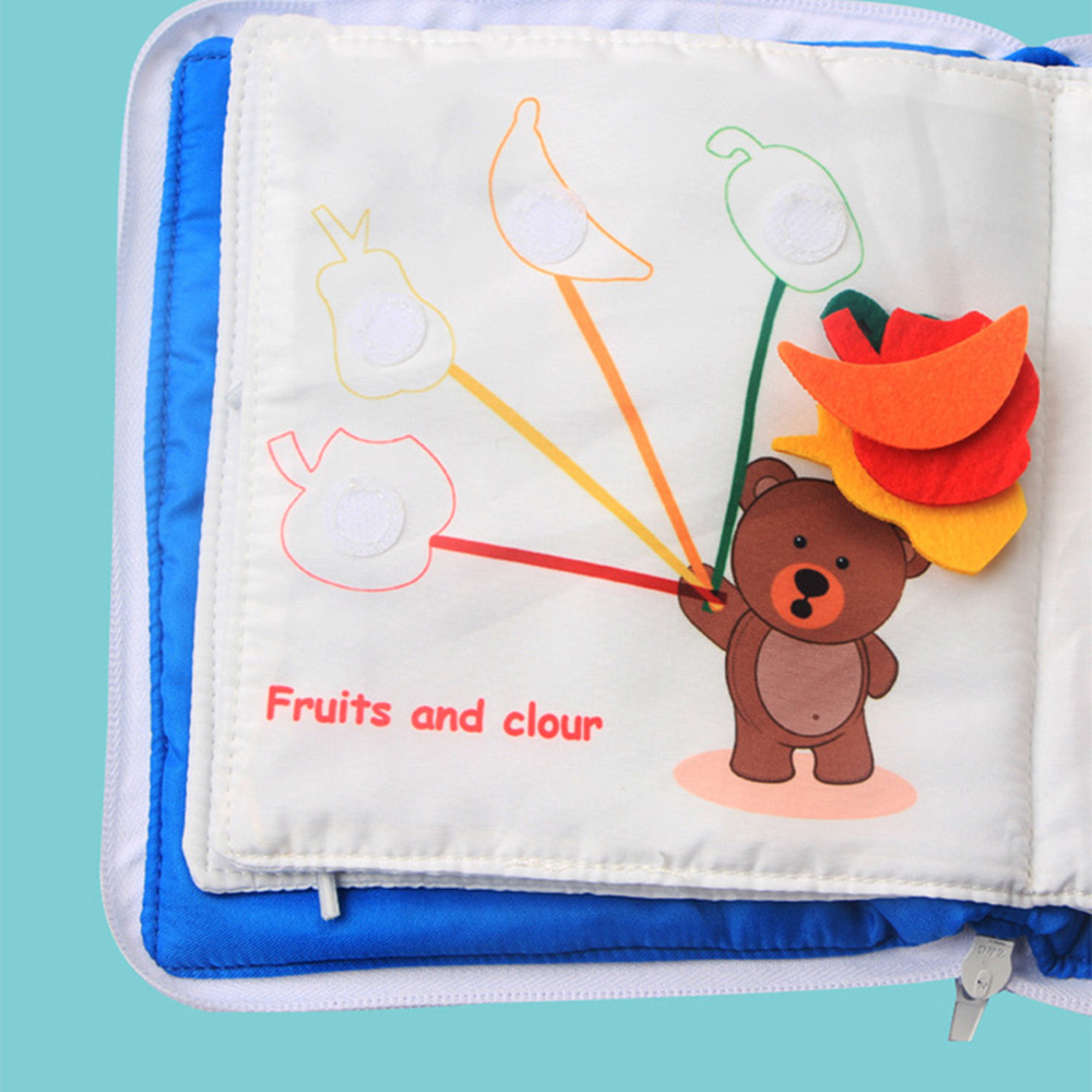 Baby Cloth Book Soft Washable 3D Parent-Children Interactive My First Book Practice Hand Early Learning Educational Quite Books 2