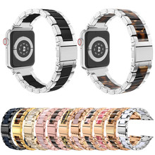 цена на Luxury Stainless Steel Metal Strap for Apple Watch Band 38mm 42mm Link Bracelet Strap for iwatch Series 5 4 3 2 1