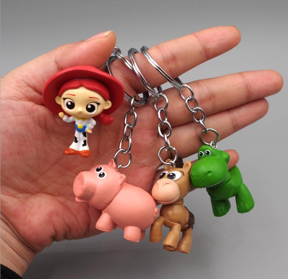 Action Figure Toy Story 4 Jessie Buzz Lightyear Woody Hamm Alien Figurine Model Toys Car Keychain Toys For Children Gifts Toy