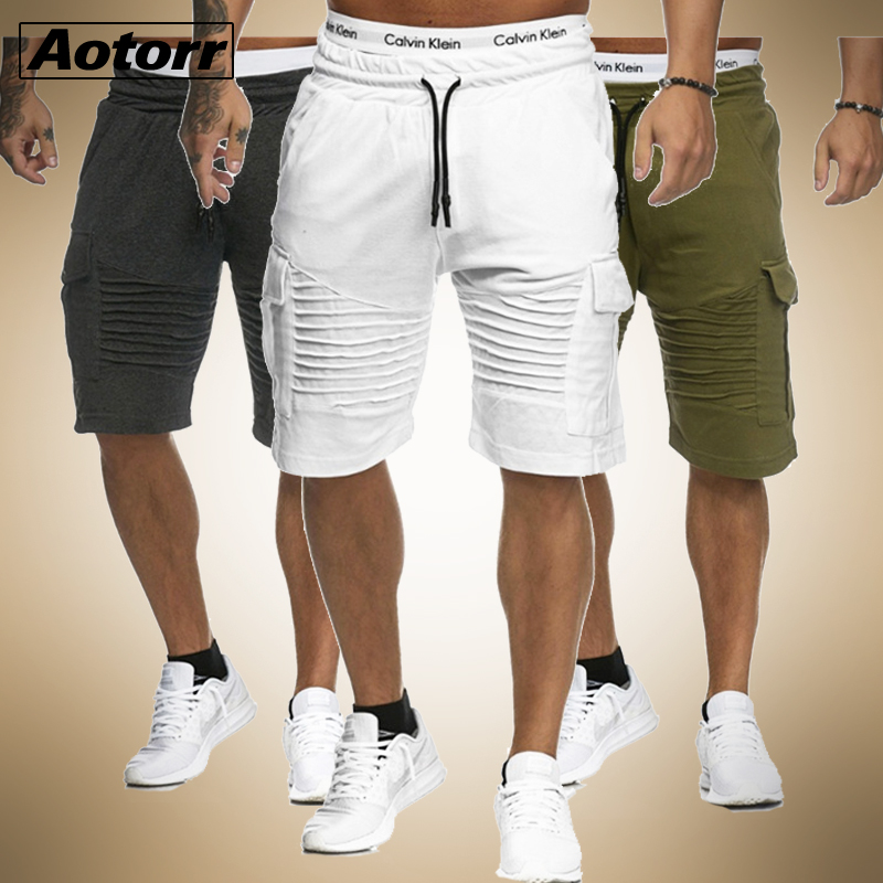 Stripe Shorts Gym Fitness Workout Breathable Cotton Summer Casual Man Trunks Men
