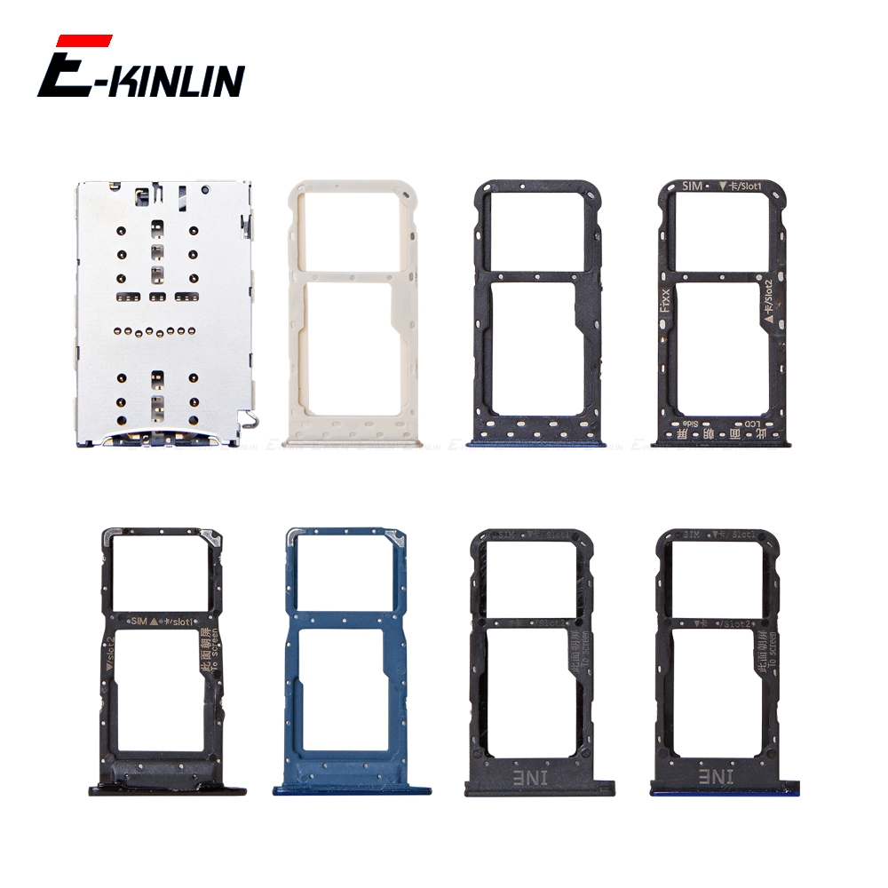 Sim Card / Micro SD Card Tray Socket Holder Slot Container Connector Adapter Reader Parts For HuaWei P Smart 2019 2018