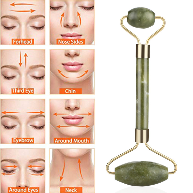 Anti Wrinkle Anti-Aging Women Roller Facelift Jade Roller Jade Massager Fashion Natural Facial Tool Face