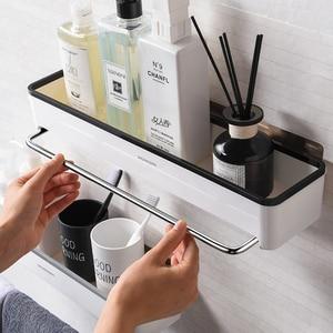 Image 3 - Punch livre organizador do banheiro prateleira cosméticos shampoo rack de armazenamento de banho toalha de cozinha titular artigos do agregado familiar acessórios do banheiro