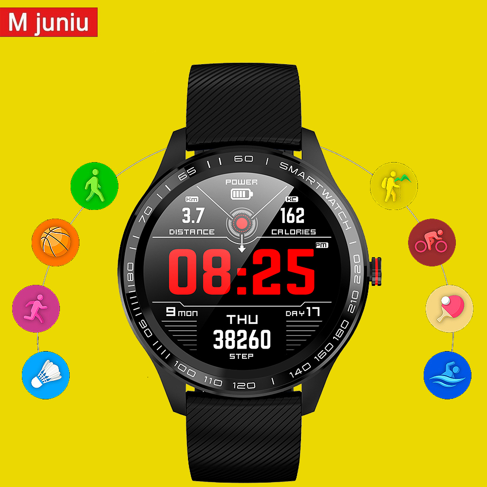 L8 L9 <font><b>smartwatch</b></font> Men women IP68 Waterproof Smart Watch ECG PPG Blood Pressure Heart Rate sports fitness pk L5 <font><b>L7</b></font> smart watch image