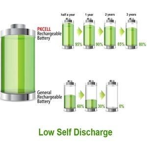 Image 4 - 8 adet PKCELL NIMH düşük öz deşarj 1.2V AA şarj edilebilir pil 2200mAh ni mh 2a Batteria ve 2 adet pil tutma kutusu