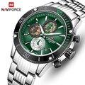 Мужские часы NAVIFORCE Топ бренд нержавеющая сталь кварцевые часы мужские Хронограф военные спортивные часы наручные часы Relogio Masculino
