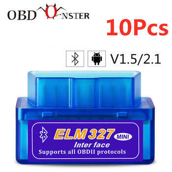 Bluetooth PIC18F25K80 V1.5/V2.1 Mini Elm327 obd2 scanner diagnostic tool For Android Windows Symbian Code Reader OBDII Protocol
