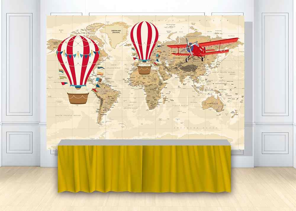 New Vintage American Map Kraft Paper Backdrop 7x5ft Wood Photos Background Travel Themed Party Decoration Newborn Baby Portraits Kids Birthday Photo Booth Adventure Events Shoots Props
