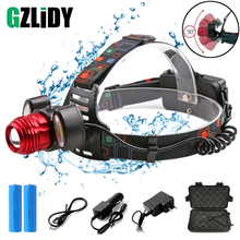 Super bright LED Headlamp T6+COB Headlight 4 lighting modes Zoomable For Fishing, night riding, camping, adventure, etc