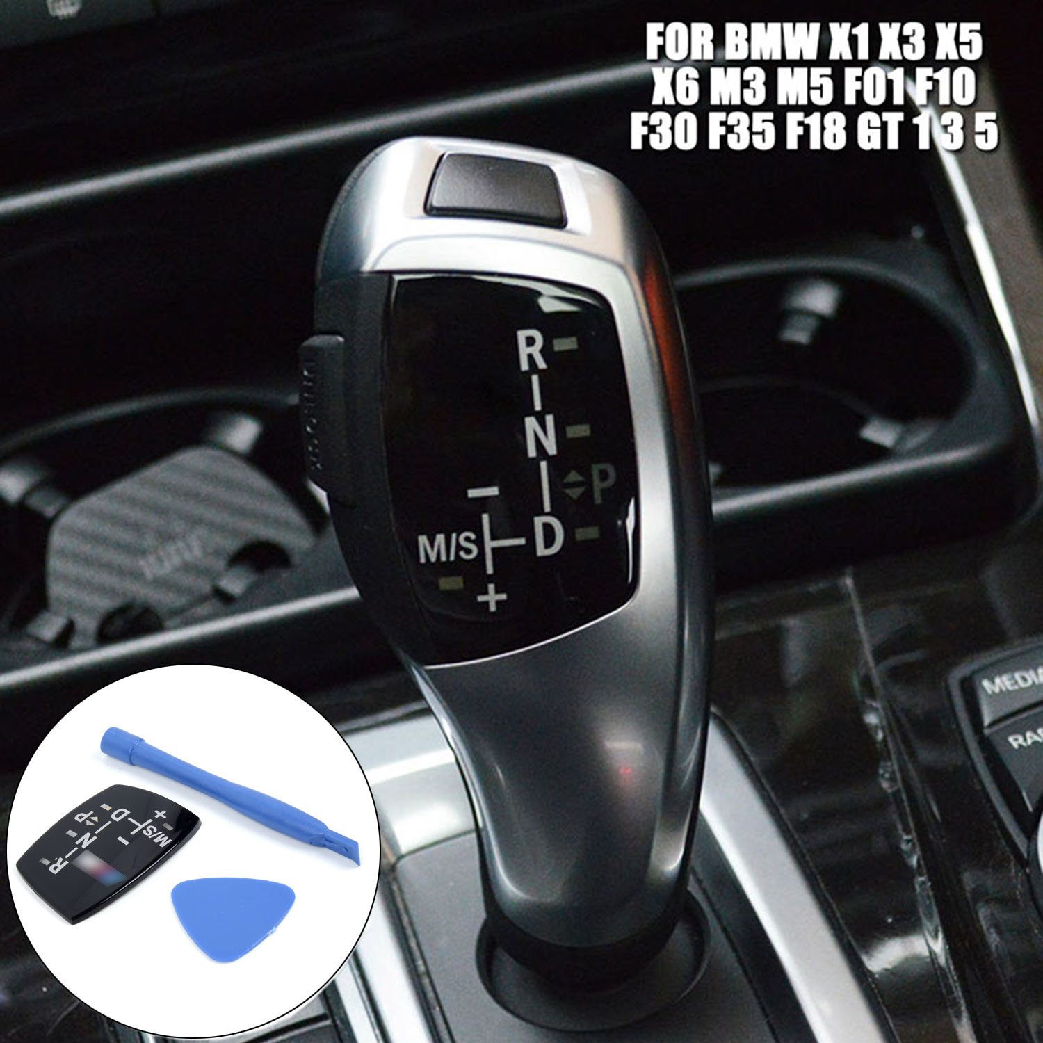 1 Set Car Gear Shift Knob Panel Sticker Kit Fit For BMW X1 X3 X5 X6 M3 M5 F01 F10 F30 F35 F18 Interior Parts
