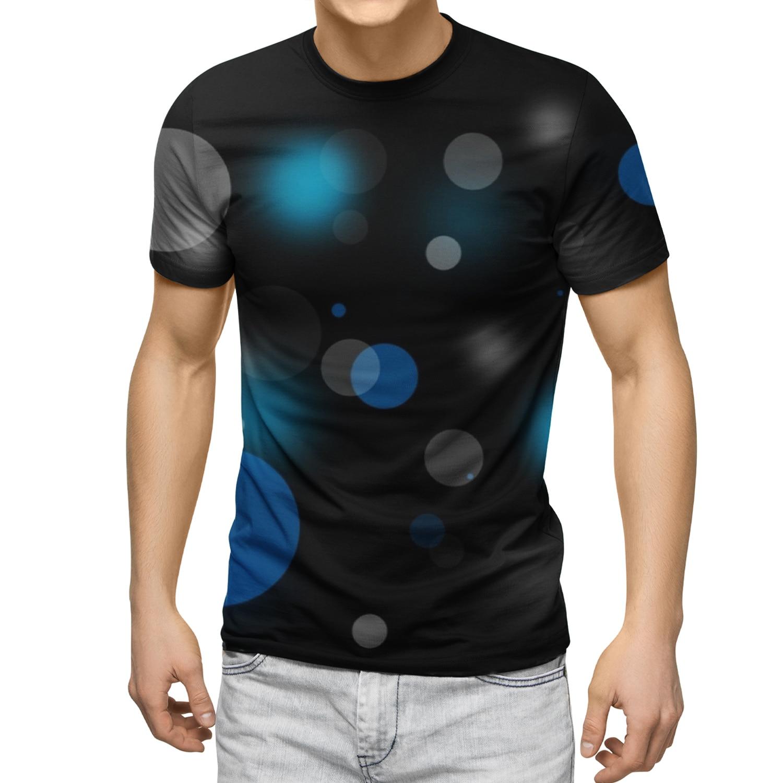 New Men's Short-Sleeved Shirt Blue Graphic Quick-Drying T-shirt Skin-Friendly Soft High Quality Printing Male Tshirts 2021 New