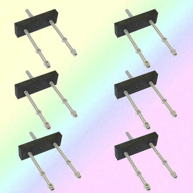 6/PK Skateboard Floating Deck Display Wall Mount Rack Holder Hanger Fit Home Storage Display