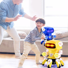 Electric Six-claw Robot Toy Arming Swing Dancing Fish Small Music Children Shaking Toys With Lights Dropshipping