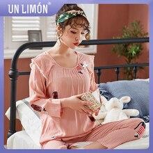 UNLIMON Women Sleepwear Long Sleeve 2Pcs Pajamas Sets Pants