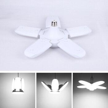Led Lamp E27 Led Bulb 30/45/60/80W Lampada Led Light Bulb 220V Foldable Fan Blade Lights lighting for Living Room garage light