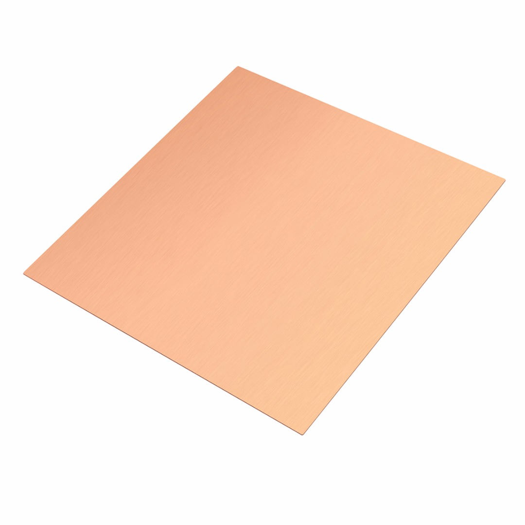 1pc New Arrival 99.9% Pure Copper Cu Sheet Thin Metal Foil Sheet Thermal Stability 100mm*100mm*0.5mm For Industry Supply