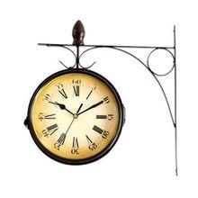 Двухсторонние настенные часы в европейском стиле, креативные классические часы с монохромом
