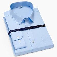 Top 100% algodão social formal manga longa escritório de negócios magro ajuste camisas vestido para homem paolo sirum marca