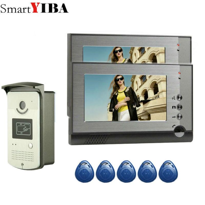 7 Inch Monitor Video Door Phone Intercom System Doorbell RIFD Card Camera Visual Intercom Doorbell Video Intercom For Villa