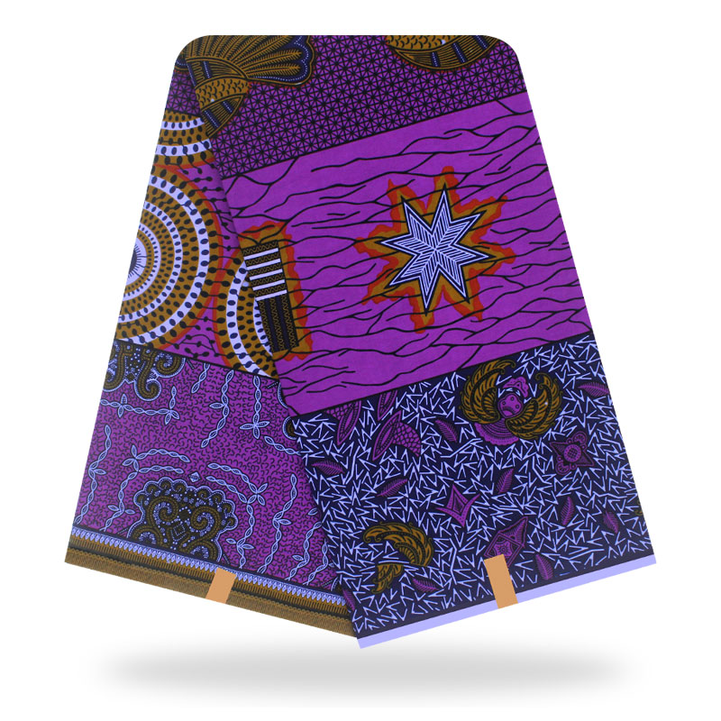 African Fabric Wax Fabric Cotton High Quality Pagne Hot Wax 6yards African Ankara Sewing Fabric For Dresses