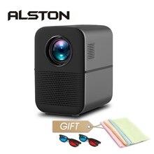 ALSTON M6 Full HD Led Projector 4000 Lumens Bluetooth HDMI USB 1080p Portable Ci