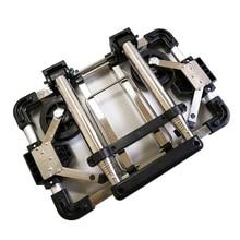 Hand-Trucks Folding Luggage-Cart Paper Lightweight Travel Stainless-Steel Heavy-Duty