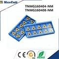10 шт. TNMG160404NM/TNMG160408NM токарный станок с ЧПУ Инструменты лезвия Вставка для режущего инструмента для токарного инструмента держатель Бесплатн...