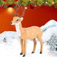 Имитация стоя с рогами год магазин офис Рождество плюшевый олень пластиковые вечерние украшения кукла Орнамент Дисплей Окно