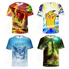 2020 3D Baby Pokemon Pikachu Printed Children Summer Girl Clothes Short T-shirt Camisetas Kids T Shirts Costume Tops женская футболка 3d 2015 t emoji t camisetas flowers