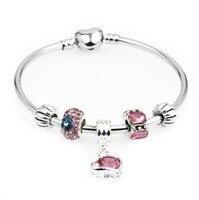 PRF Pendant Hollow Bead White Glass Bead Bracelets DIY Fashion Hot European Charm Fit Women Jewelry MM