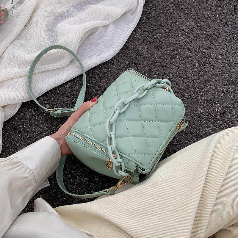 Quality PU Leather Crossbody Bags For Women Designer Small Handbags Chain Shoulder Messenger Bag Mini Purses With Handle