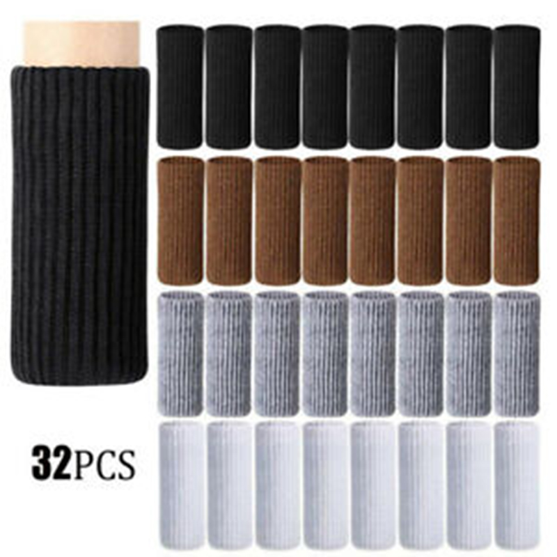 32PCS Knitted Chair Leg Socks Furniture Table Feet Leg Floor Protectors Covers