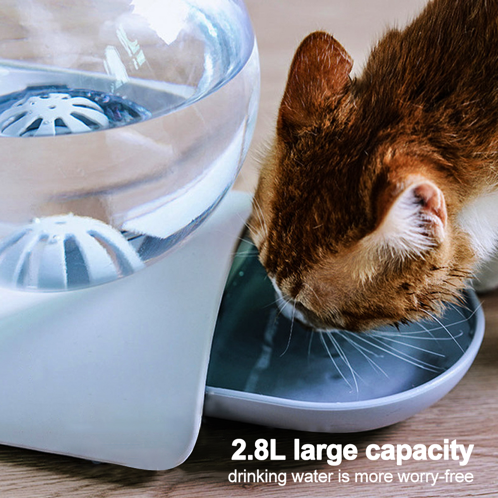 Cat Dog Feeder Fountain Bubble Large Drinking Bowl Pet Automatic Cats Water Fountain For Cat Pets Water Dispenser No Electricity 3