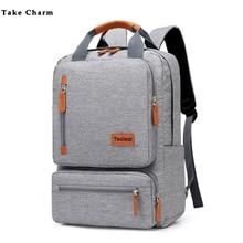 Повседневный деловой мужской компьютерный рюкзак, светильник, 15,6 дюймов, сумка для ноутбука,, Женский Противоугонный рюкзак для путешествий, серый