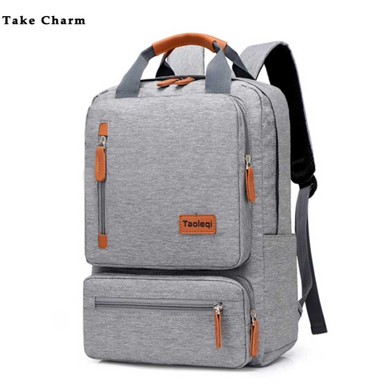 Casual Business Men Computer Backpack Light 15.6-inch Laptop Bag 2019 Lady Anti-theft Travel Backpack Gray