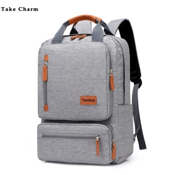 Casual Business Men Computer Backpack Light 15 inch Laptop Bag 2020 Waterproof Oxford cloth Lady Anti-theft Travel Backpack Gray