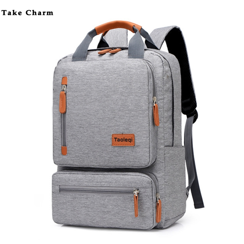 Casual Business Men Computer Backpack Light 15.6-inch Laptop Bag 2020 Lady Anti-theft Travel Backpack Gray image