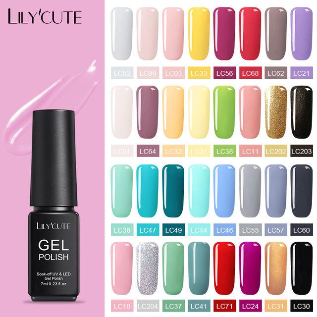 LILYCUTE 7ml Pink/Red Nail Gel