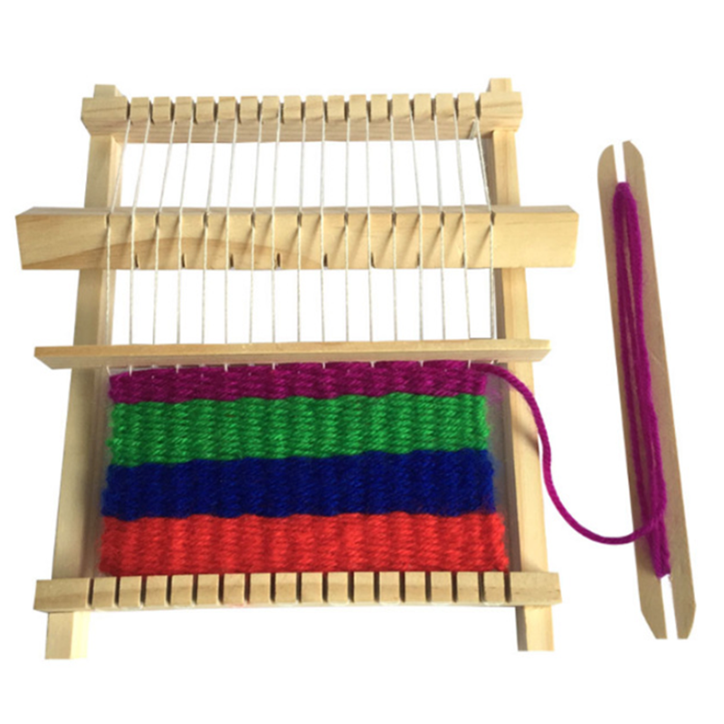 Kids DIY Loom Toy Hand-Knitting Wooden Loom Toys Children Weaving Machine Educational Toy Children's Educational Woven Toy
