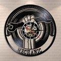 Декоративные виниловые настенные часы для гаража  Современные механические инструменты  автосервис  Настенный декор  гаечный ключ  настенн...