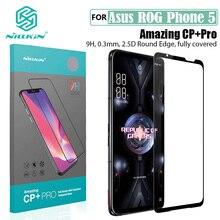 עבור Asus ROG Phone טלפון 5 מזג זכוכית מלא דבק Nillkin CP + פרו נגד פיצוץ דק מלא מסך מגן עבור Asus ROG Phone5