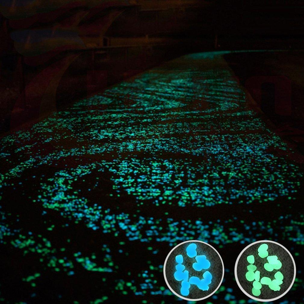 100pcs/pack Glow Pebbles Stone Fish Tank Garden Decoration Glowing In The Dark K