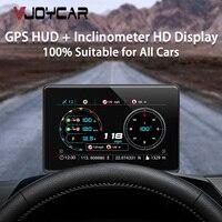 2021 más nueva para coche HUD HD pantalla impermeable IP67 pendiente medidor Digital velocímetro coordenadas brújula reloj adecuado para todos los coches