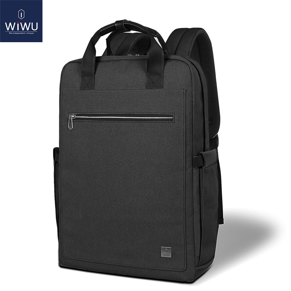 WIWU Fashion Laptop Backpack 15.6 Large Capacity School Backpacks Nylon Bag inch Women Male Lightweight