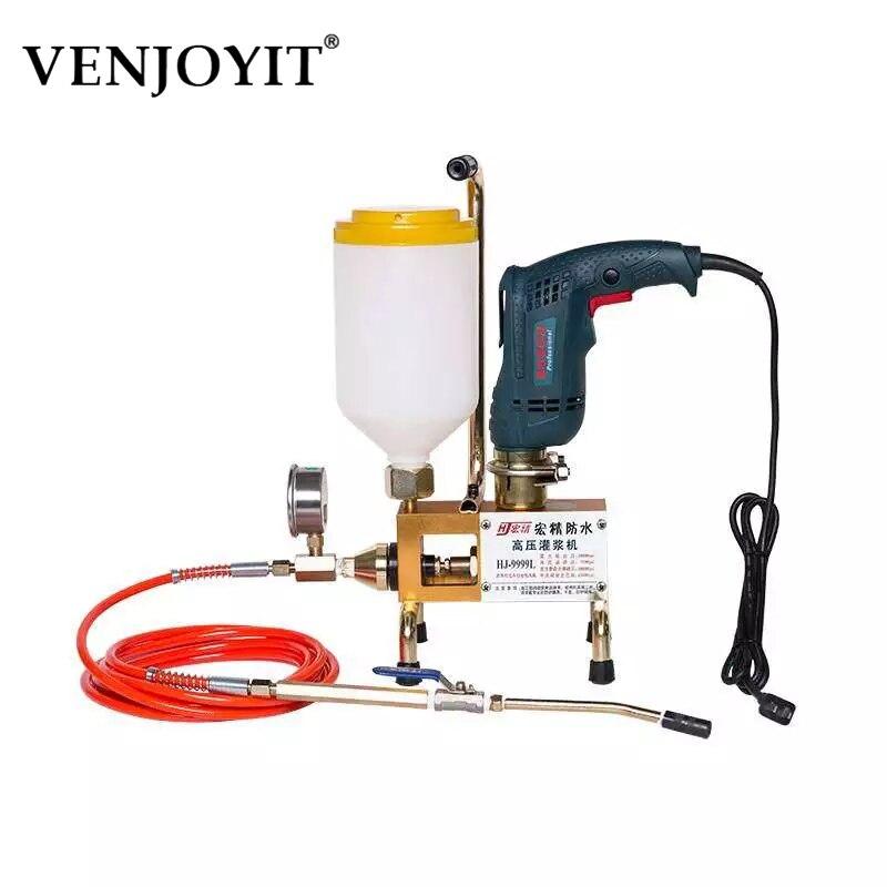 Bomba de inyección de Epóxico, máquina de lechada de espuma epoxi/poliuretano, manguera de acero, reparación de hormigón, grietas, 999/810/910 W de alta calidad, 1300