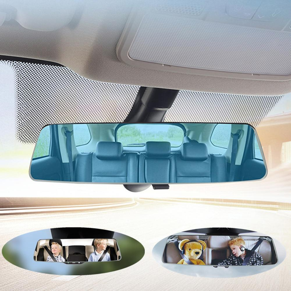 Car Rear View Mirror HD Anti glare Blue Mirror Car Styling Baby Monitor Mirror Car Wide Angle Reversing Parking Rearview Mirror|Interior Mirrors|   - title=