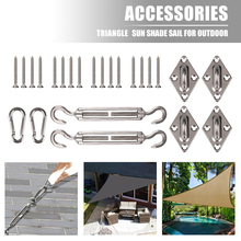 Kitfixing-Sail Canopy Hardware Sun-Sail-Accessories Stainless-Steel for Rectangle And