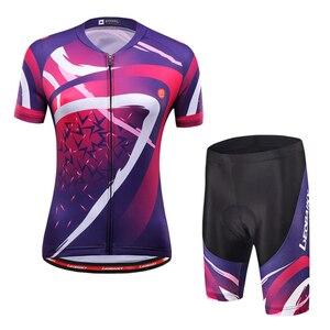 Image 2 - Donne Abbigliamento Ciclismo Set 2020 Estate Pro Team MTB Bike Vestiti Delle Signore Cycling Jersey Set Anti Uv Casco Da Bicicletta Polsini Guanti
