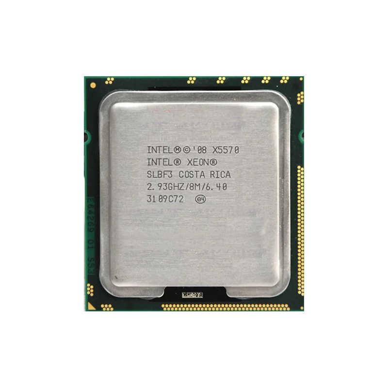 Conjunto de placa-mãe x58 lga1366, kit com processador intel xeon x5570 e 16gb (2 peças * 8gb)) memória ram ecc ddr3 12800r, 1600mhz