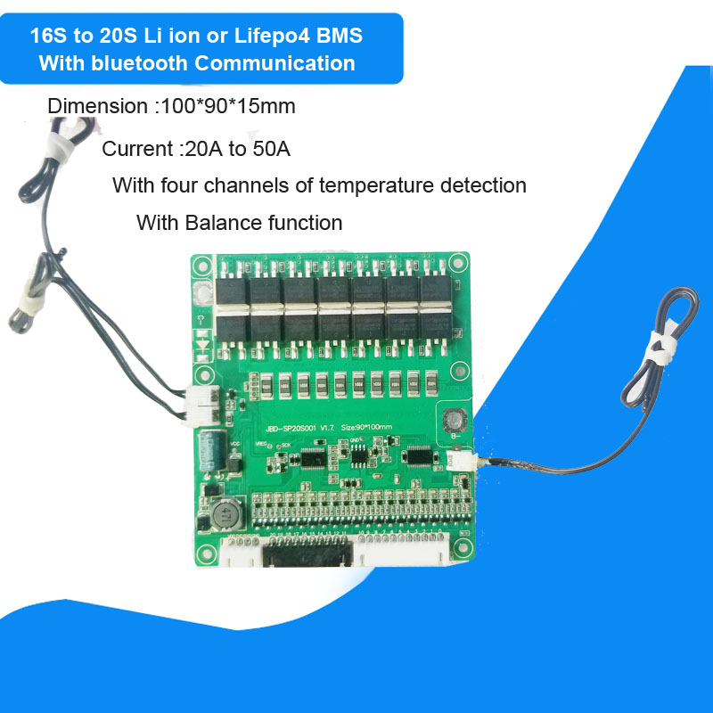 16S 60V or 20S 72V Bluetooth BMS